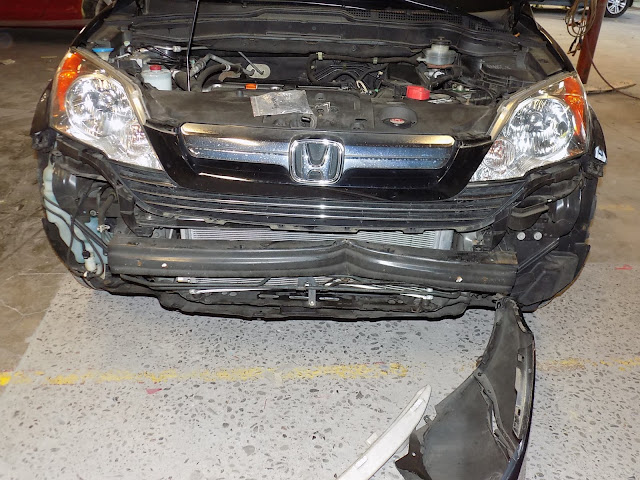 Hidden damage on Honda CR-V before repairs at Almost Everything Auto Body