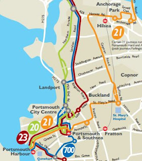 Portsmouth Bus Routes Map Great British Bus Routes.com: 700: Portsmouth   Brighton
