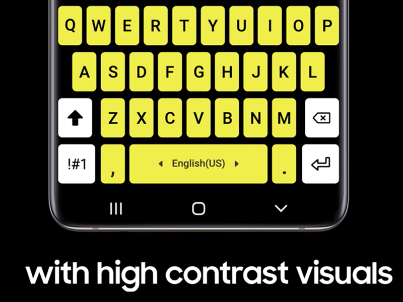 High contrast keyboards