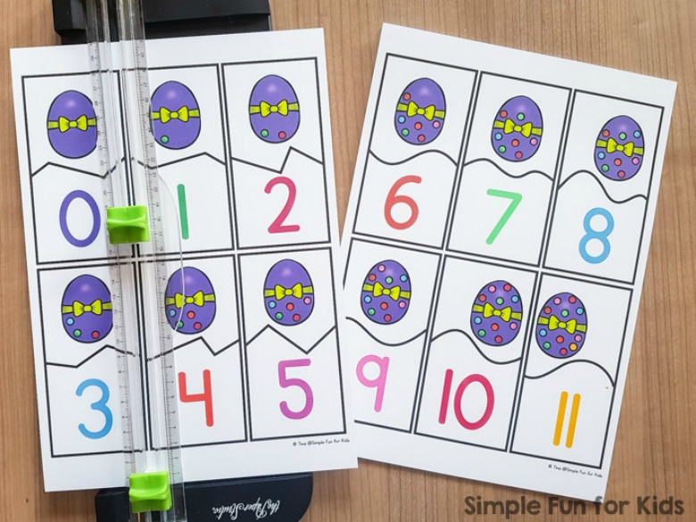 Easter egg puzzles - Easter activities for preschoolers and toddlers