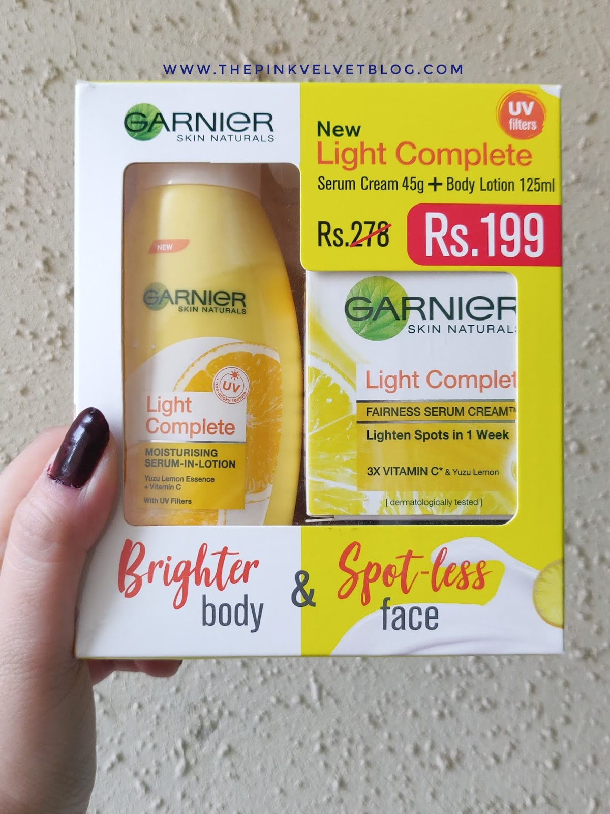 Garnier Light Complete Serum Cream and Moisturizing Lotion - Review