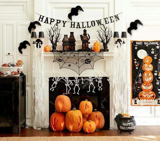 dirayakan di negara barat beberapa tahun yang kemudian Room Design with Halloween Design