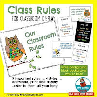 class rules, anchor charts, teaching resources, classroom rules, MrsQuimbyReads