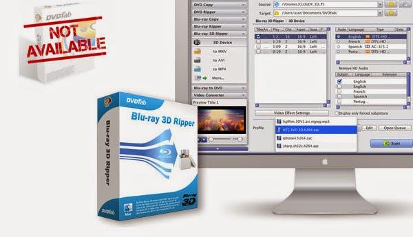 DVDFab Blu-ray Ripper (3D Plus) for Mac Yosemite Alternative