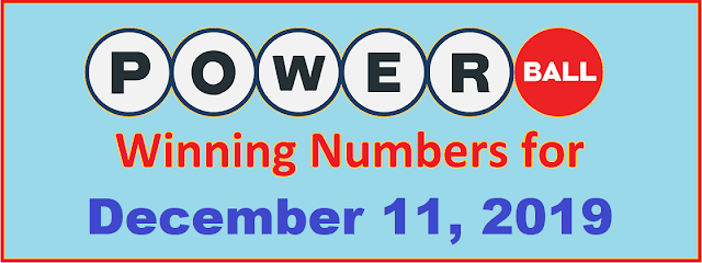 PowerBall Winning Numbers for Wednesday, December 11, 2019