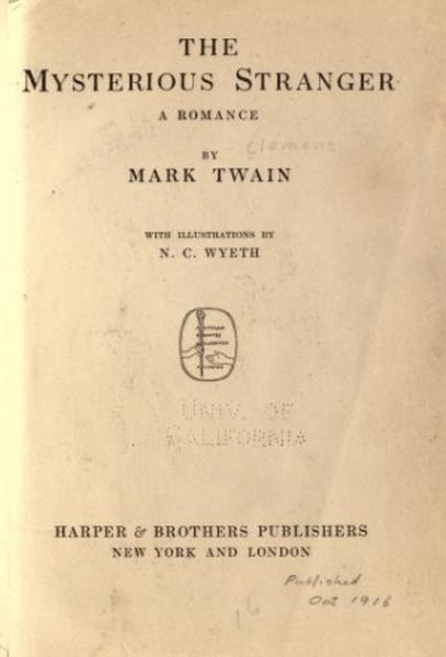 The Mysterious Stranger (A Romance ) Novel by Mark Twain in pdf