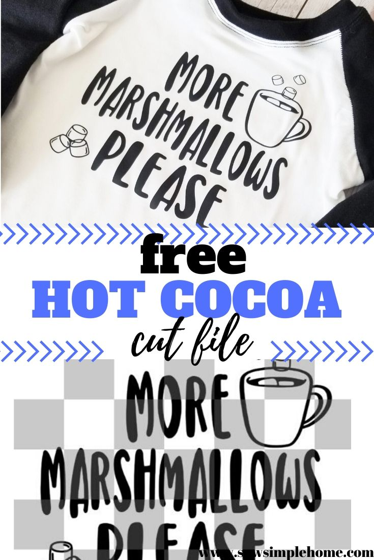 Free Holiday Hot Cocoa Svg Cut Files For T Shirts Sew Simple Home