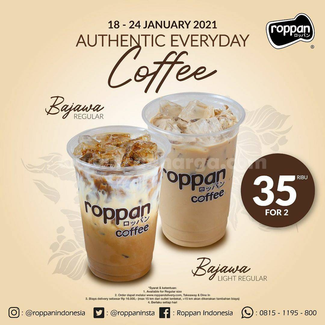 ROPPAN Promo Authentic Everyday Coffee! harga spesial Bajawa Regular atau Light hanya 30K