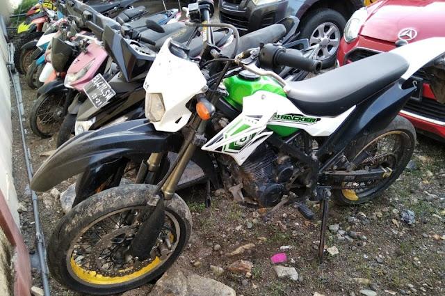 Dua pemuda pencuri motor Kawasaki ditangkap Polisi