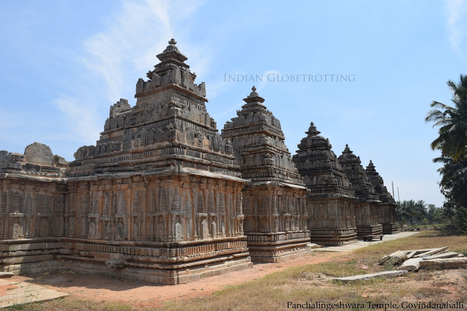 Back side of Panchalingeshwara Temple in govindanahalli in karnataka