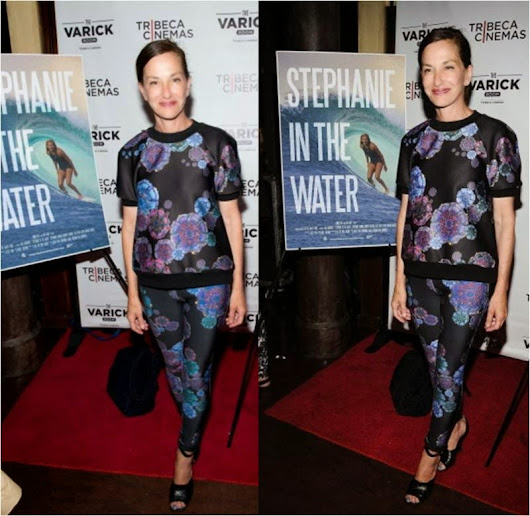 Cynthia Rowley On Red Carpet in Her Collection