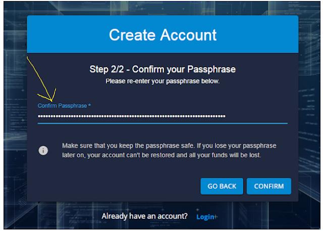 confirm passphrase DDKoin