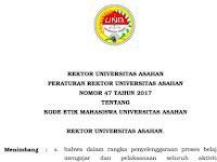 Peraturan Rektor UNA Nomor 47 Tahun 2017 Tentang Kode Etik Mahasiswa UNA