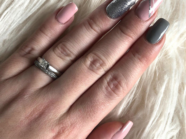 New Nails | Pink, Grey & Silver