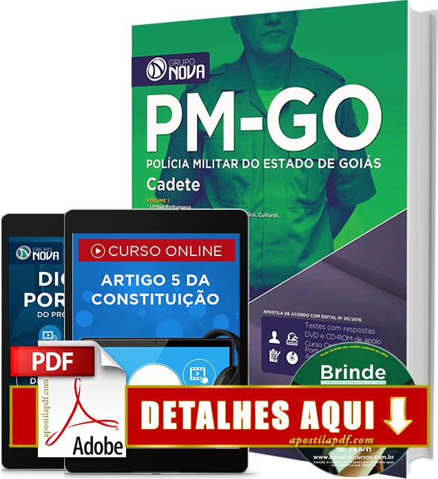 Apostila PM GO 2016 Cadete da Polícia Militar de Goiás Impressa