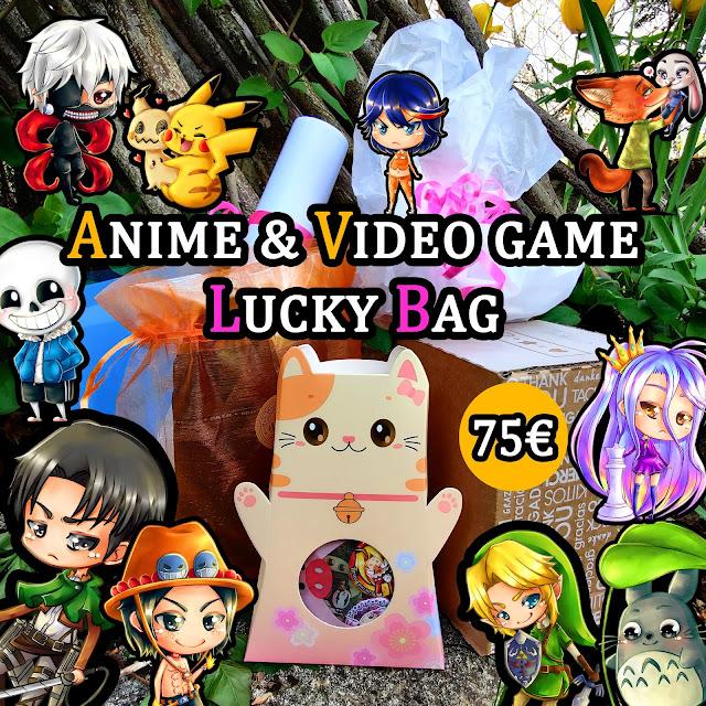 Anime & Video game Lucky Bag - Sac mystère Mystery Bag - Saya's Art goodies merchandise manga