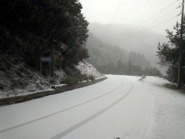 Χιόνισε τη νύχτα στην Ελασσόνα - Εκχιονιστικά στο ορεινό δίκτυο του νομού