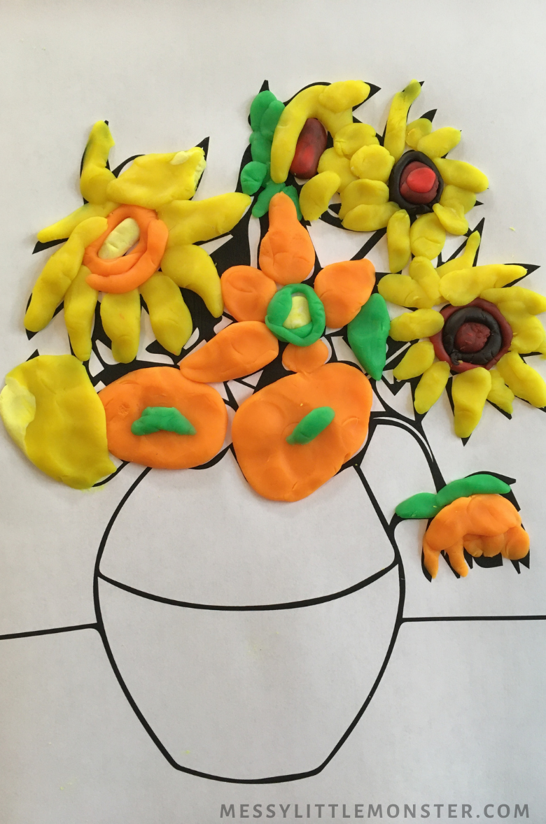 Van Gogh sunflower craft for kids