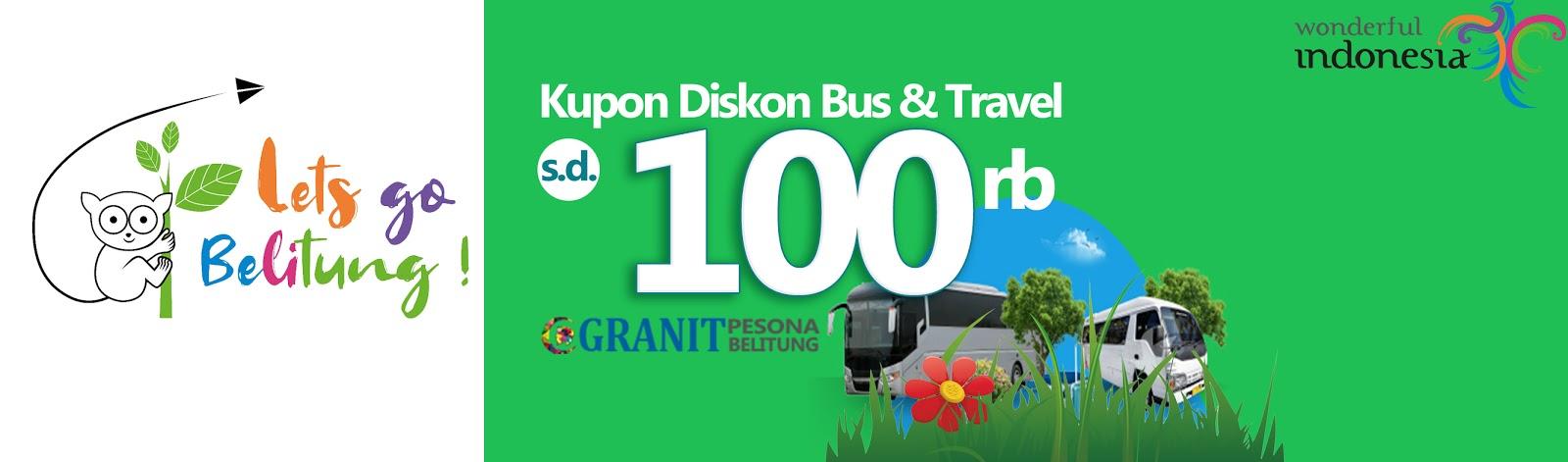 Promo Kupon Diskon Sewa Bus di Belitung