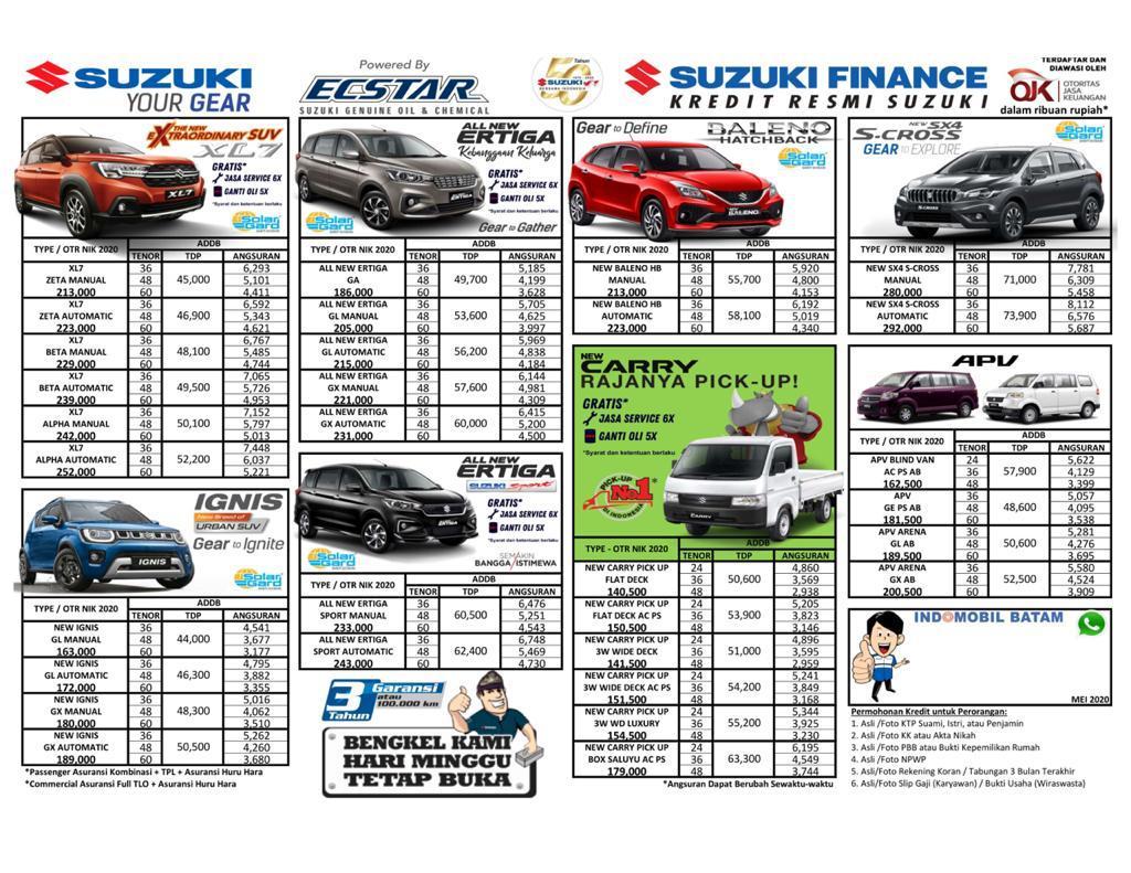 Harga Kredit Mobil Suzuki Batam Mei 2020 Dealer Resmi Mobil Suzuki Batam