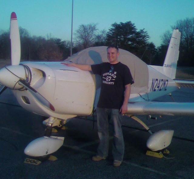 Joe Burlas standing next to a Zlin 242 N242MZ the first aircraft he ever flew