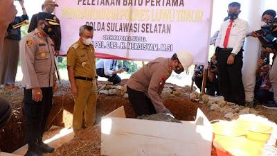 Kapolda Sulsel Letakkan Batu Pertama Pembangunan Polres Lutim Dan Resmikan Rusun Polres Lutim