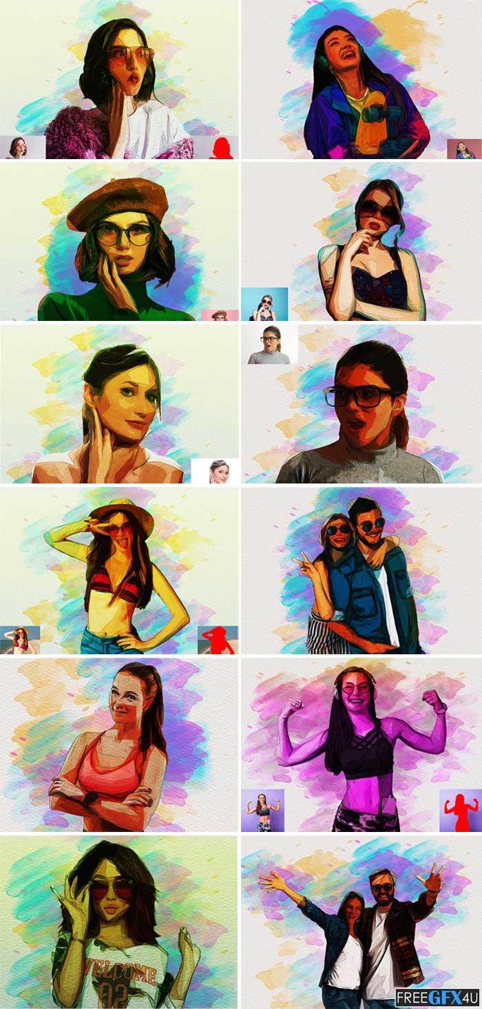 Advance Oil Paint Photoshop Action