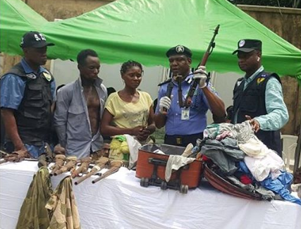 Nursing mother Caught With AK47 and 18 Rounds of Live Ammunition in Ogun