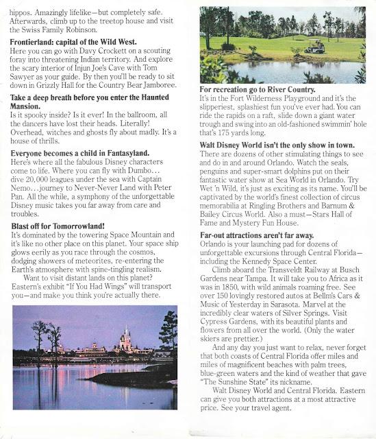 Magic Kingdom Walt Disney World Eastern Airlines Guide 1977