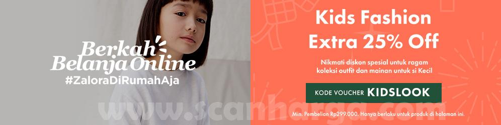 Promo Zalora Kids Fashion Extra Diskon Hingga 25 Scanharga