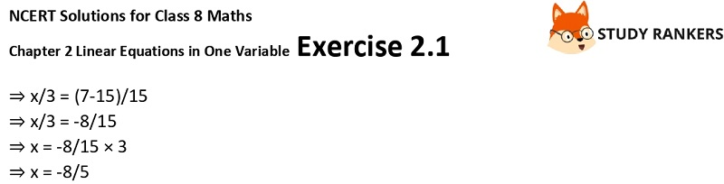 NCERT Solutions for Class 8 Maths Ch 2 Linear Equations in One Variable Exercise 2.1 3