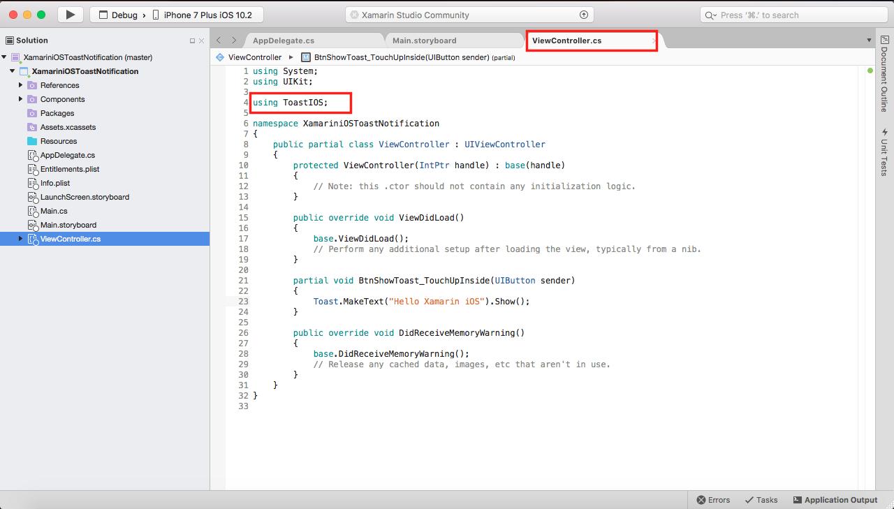 Xamarin Monkeys: Create an Toast Notification in Xamarin iOS