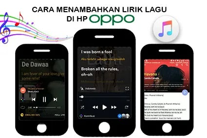 cara menambahkan lirik lagu di hp oppo