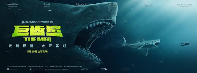جيسون ستاثام يسبح مع أسماك القرش في فيلم الرعب الجديد The Meg