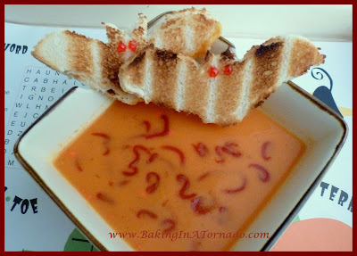 Blood (Homemade Tomato) Soup for Halloween | www.BakingInATornado.com | #recipe #Halloween