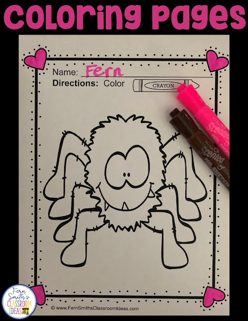 Pets! Pets! Pets! Pet Fun! Color For Fun Printable Coloring Pages with 40 Coloring Pages for your classroom or personal children's fun! Students can draw in a pet background, or what they would do if they could get any type of pet and decorate the background. Use it for all sorts of jump off points. #FernSmithsClassroomIdeas