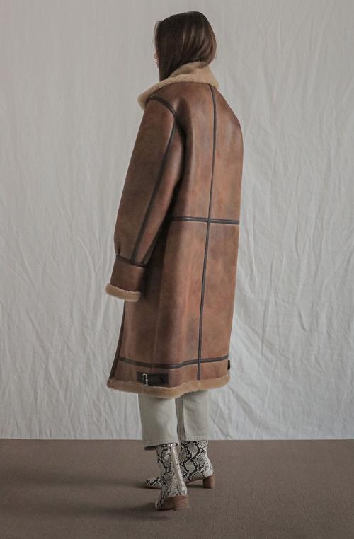 Buckled High Neck Zip-Up Coat