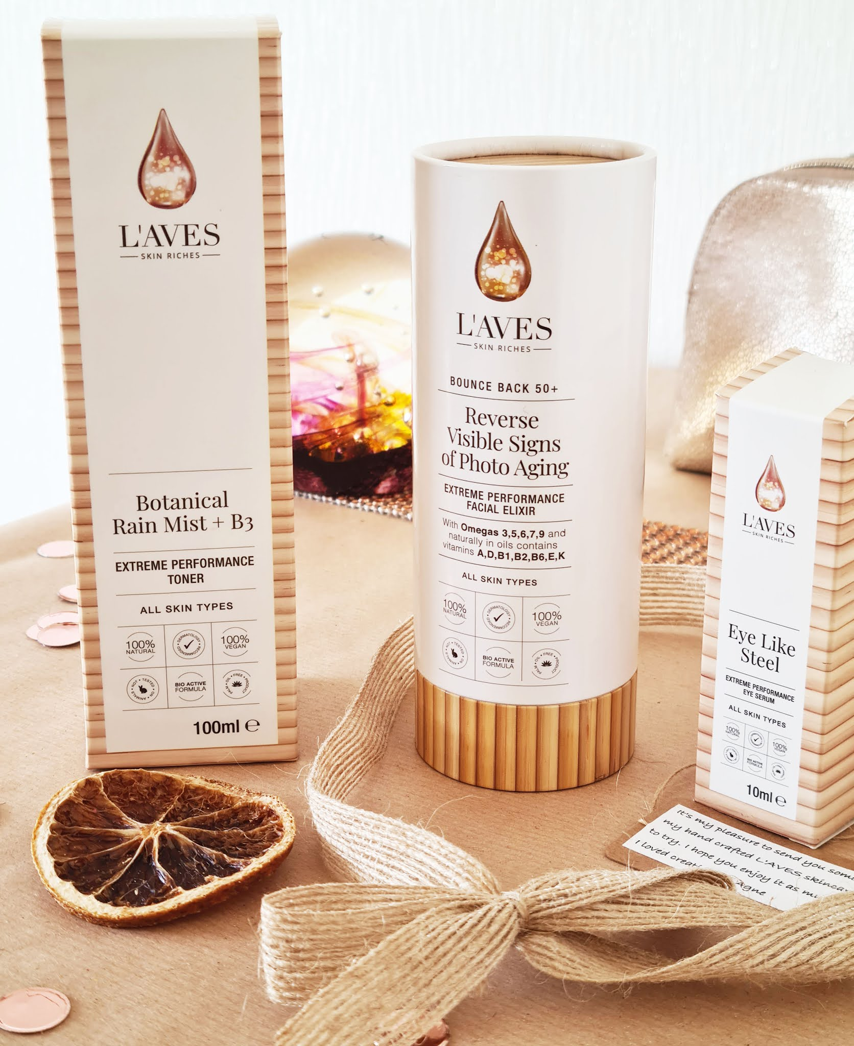 Products from the L'AVES vegan skincare ranges reviewed by Is This Mutton blog