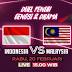 Jadwal Timnas Indonesia vs Malaysia Piala AFF U-22 2019 Live RCTI