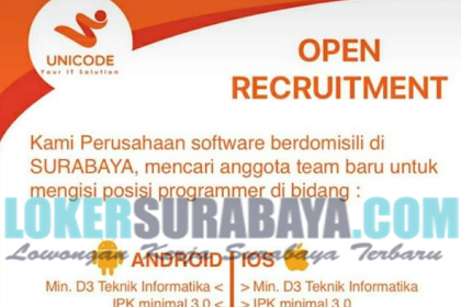 Lowongan Kerja Surabaya Terbaru di Unicode Indonesia Mei 2019