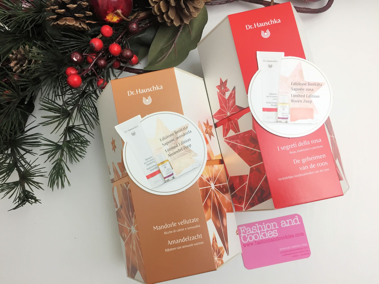 "Idee regalo Natale: cofanetti edizione limitata Dr. Hauschka ""I segreti della rosa"" e ""Mandorle vellutate"" su Fashion and Cookies beauty blog, beauty blogger"