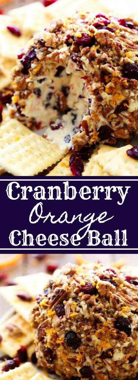 Cranberry Orange Cheese Ball #orange #cranberry #cheese #desserts #yummy