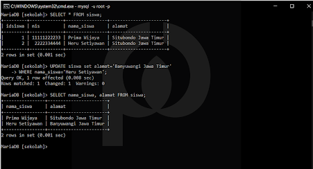 Perintah MySQL di CMD
