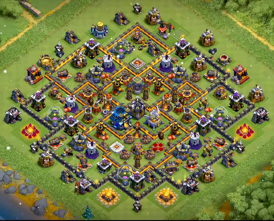 Town Hall 12 farming layout
