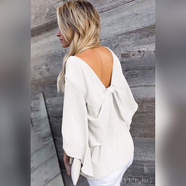 Γυναικεία  άσπρη μπλούζα MAISEY WHITE