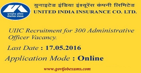 UIIC Recruitment Notification 2016 for 312 Administrative Officer Posts | United India Insurance Company Limited (UIIC) has published notification for the recruitment of 300 Administrative Officer (Scale – I) vacancies/2016/05/uiic-recruitment-notification-2016-for312-administrative-officer-posts.html