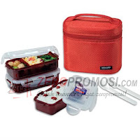 Lock & Lock HPL754DR 3P Lunch Box Set