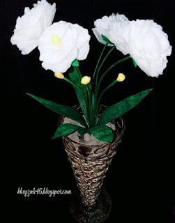 Cara membuat bunga mawar putih dari plastik kresek bekas belanja