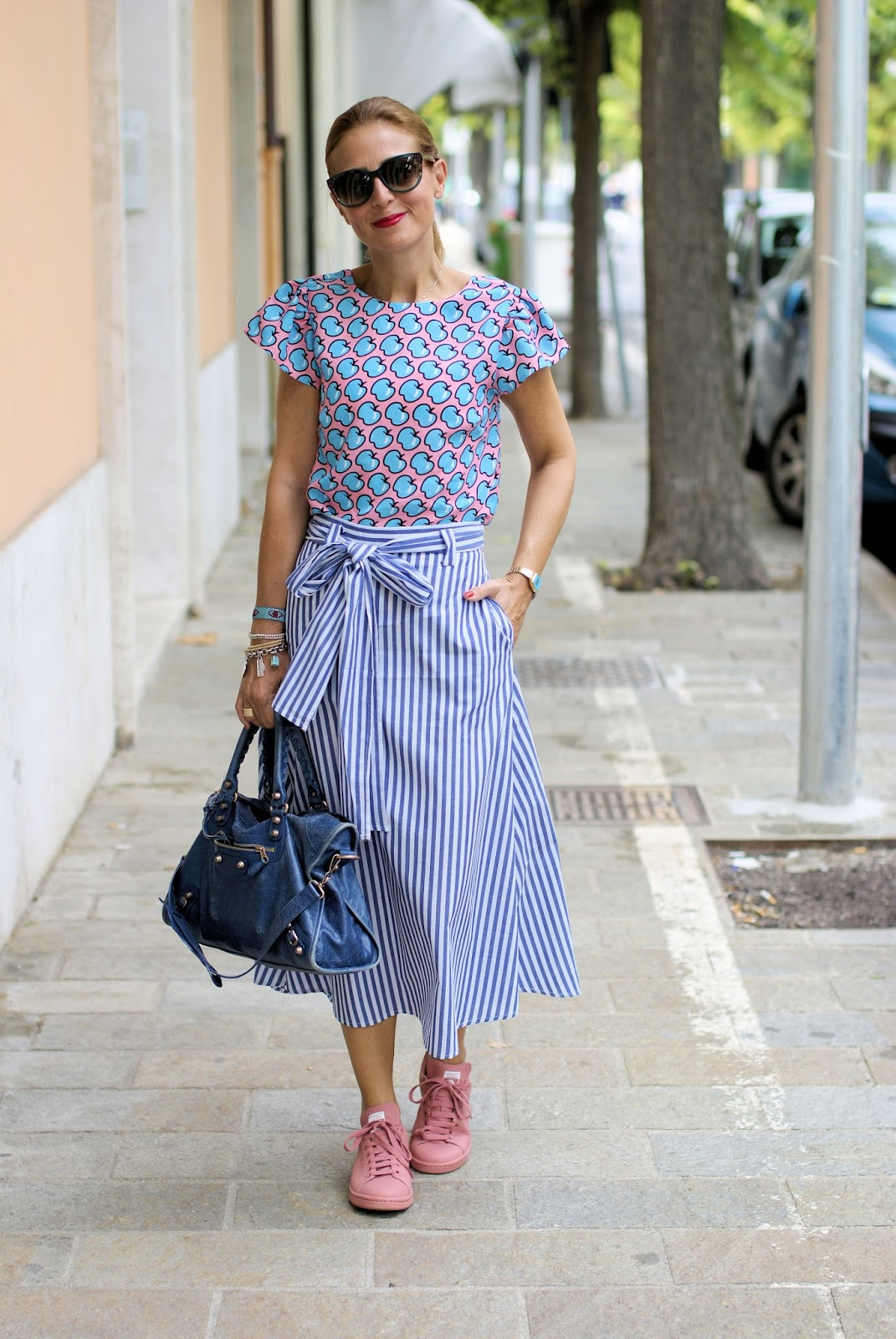Mix of prints on Fashion and Cookies fashion blog, fashion blogger style