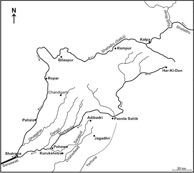 Redefining Geography Of Sapta Sindhu Sutlej Ghaggar Tangri